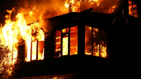 Жизнь селянина в Розовом унес пожар