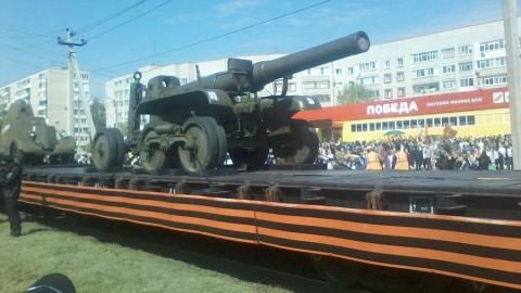 В Энгельсе побывал Поезд Победы