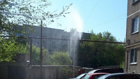 На улице Куприянова прорвало трубу