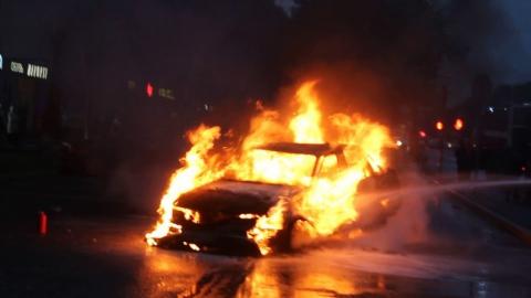 В Саратове ночью сгорела «Дэу Нексия»