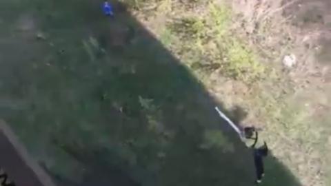 Опасный прыжок девушки с Гусельского моста сняли на видео