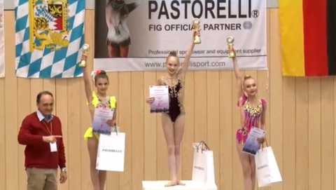Юные гимнастки выиграли три медали престижного международного турнира