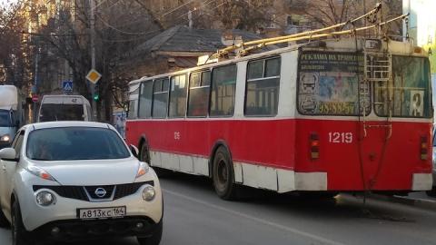 Троллейбусный маршрут № 2 закрыт на несколько дней