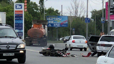В аварии ранен водитель скутера