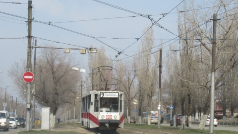 В Саратове остановились трамваи двух маршрутов