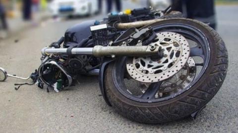 Подросток без прав ночью  перевернулся на мотоцикле