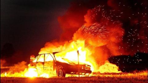 В Саратове ночью сожгли Toyota Camry