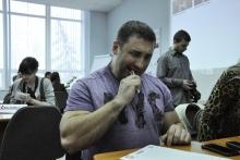 """В Саратове """"Тотальный диктант"""" написали Вячеслав Максюта и Ирина Титаренко"""