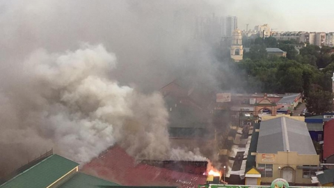 Пожар на энгельсской ярмарке. Выгорело 1500 квадратных метров