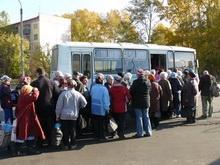 Первый дачный автобус едет на Кумысную поляну