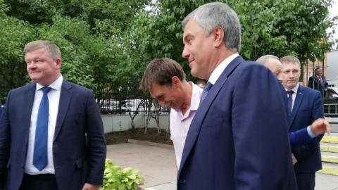 Вячеслав Володин осматривает музей-усадьбу Н.Г. Чернышевского