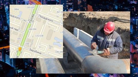 Улицу Рахова перекрыли до конца недели