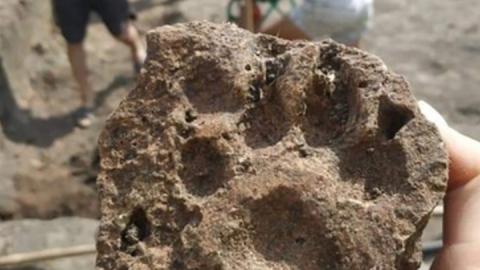 На Увеке раскопали средневековую посуду, железнодорожные пломбы и след собаки