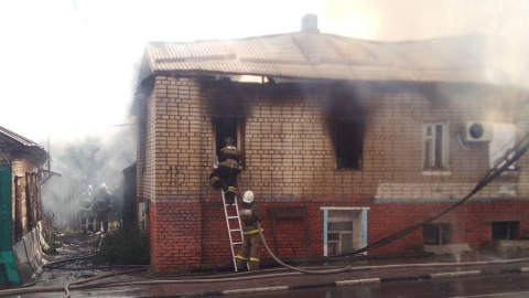 Только что на пожаре погиб мужчина