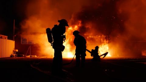 Ночью в Саратове горело кафе «Тамада»