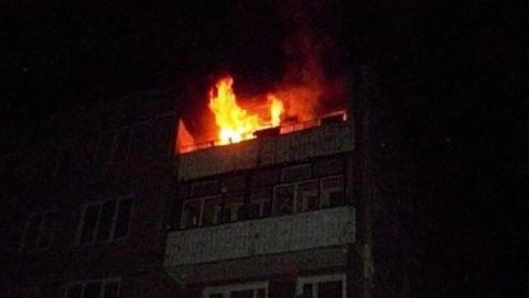 Ночью в Саратове горела девятиэтажка