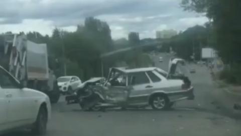 На дороге, ведущей в Солнечный, произошло ДТП. Видео