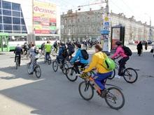 В Саратове состоялся массовый велопробег