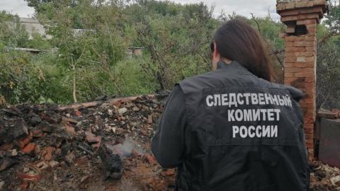 В Балашовском районе сгорел мужчина