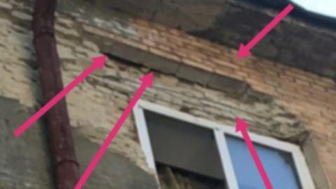 Ремонт фасада дома с выпадающими кирпичами запланировали на сентябрь