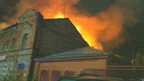 Ночью в Саратове горел расселенный дом