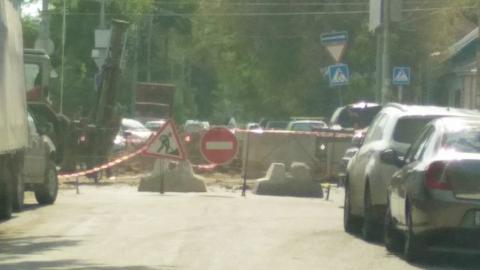 Перекрыт квартал улицы Пугачева