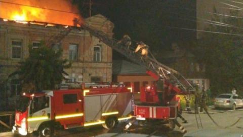 Предрассветный пожар в центре Саратова произошел из-за человеческой неосторожности