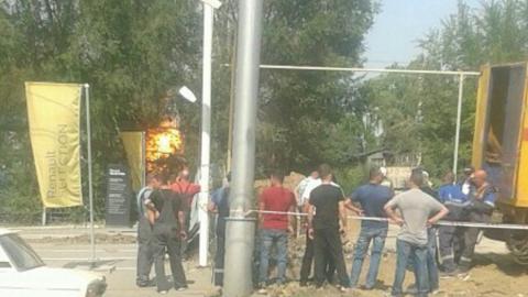 В Ленинском районе Саратова горит газораспределительный узел