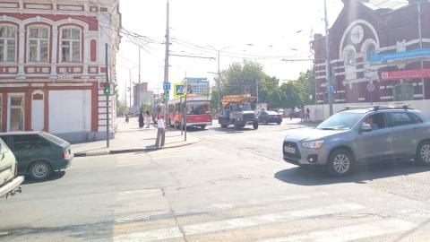 Из-за аварии на Московской прервано движение троллейбусов