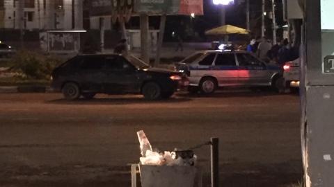 Пьяный водитель вылетел на клумбу напротив ДК «Россия»