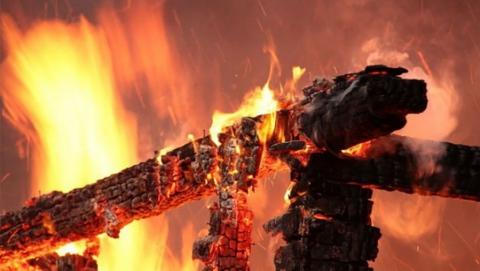 Сегодня ночью в Шумейке горела частная баня