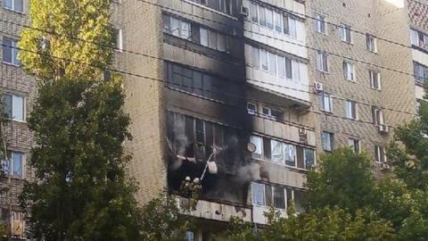 В Саратове горели балконы девятиэтажного дома. Фото