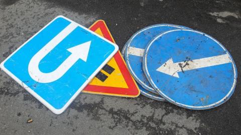 Безработного балаковца подозревают в краже дорожных знаков