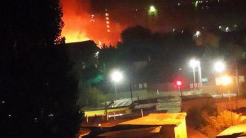 Семья лишилась крова в Юрише из-за вечернего пожара