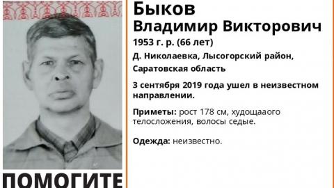 В Лысогорском районе пропал пожилой мужчина