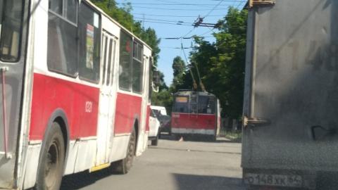 Остановились два троллейбусных маршрута