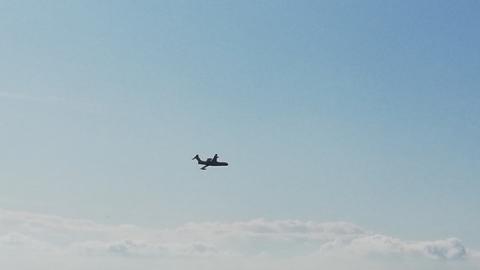 Самолет-амфибия Бе-200 тушил «пожар» над Саратовом. Видео