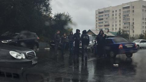 Три автомобиля столкнулись на Большой Садовой. Видео