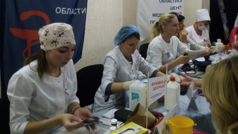 Посетители ярмарки вакансий смогли пройти медицинское обследование