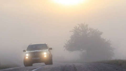 Водители предупреждают о сильном тумане на трассах