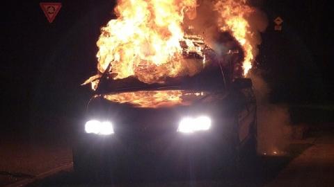 Ночью сгорела иномарка