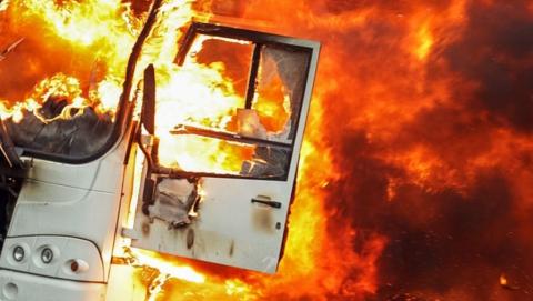Утром в Вольске сгорели два автобуса