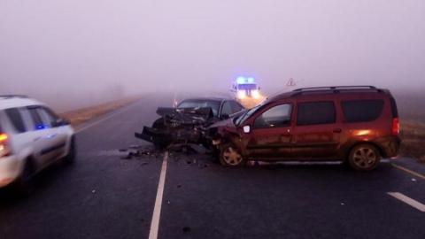 В аварии возле Мокроуса ранены четыре человека