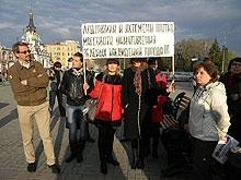 Коммунисты устроили очередную пиар-акцию по поводу деревьев на Первомайской