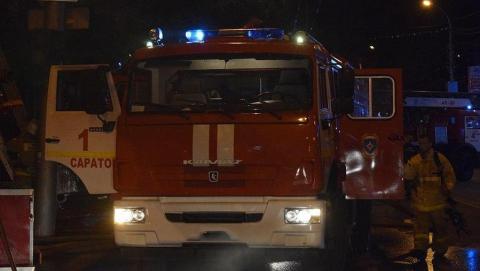 В субботу в Энгельсе произошел пожар