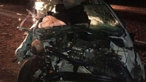 Volkswagen Polo врезался в КамАЗ на трассе «Сызрань-Саратов-Волгоград»