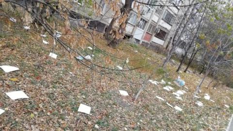 В центре Саратова разбросаны листовки Билайна