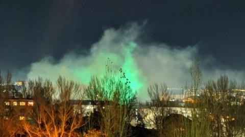 На Хэллоуин жители Ленинского района видели странный дым