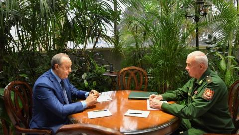 Валерий Радаев встретился с новым военным комиссаром области Андреем Старковым