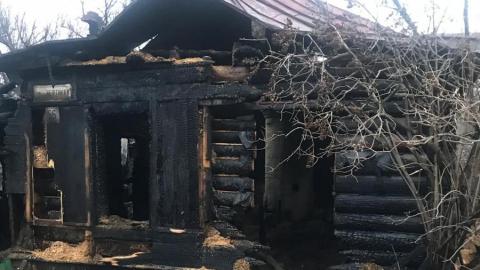 Женщина сгорела во время пожара в собственном доме